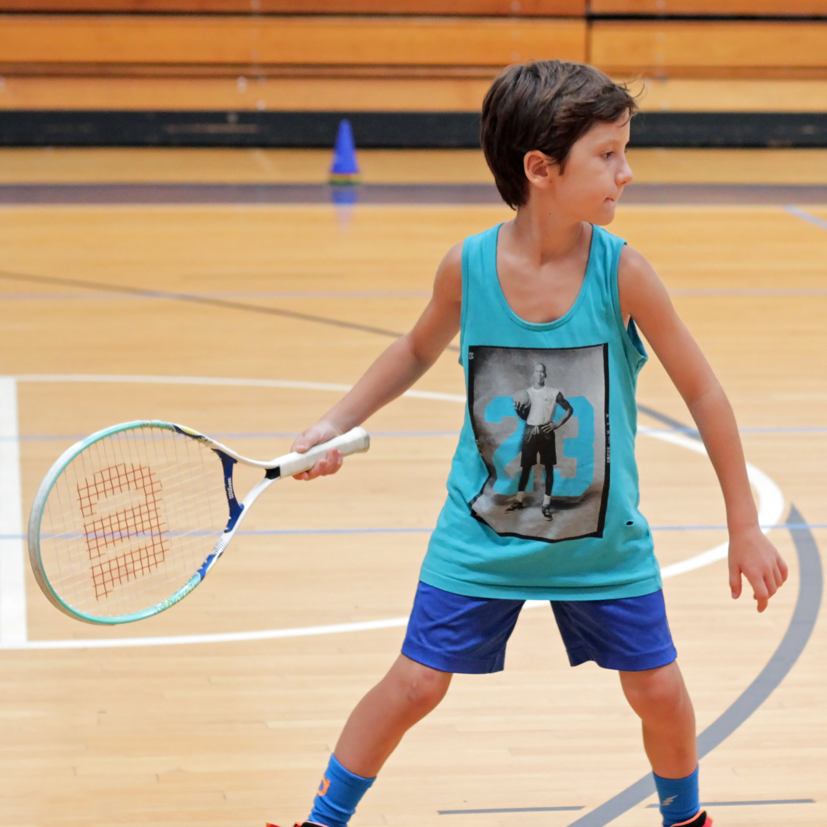 JCC of the Lehigh Valley Tennis Squash Camp Youth Sports  CC Attribution 3.0 Kaitlyn Stefanowicz